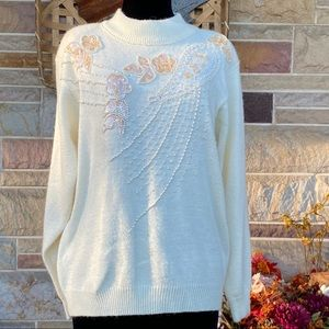 Vintage Alfred Dunner Beaded Sweater